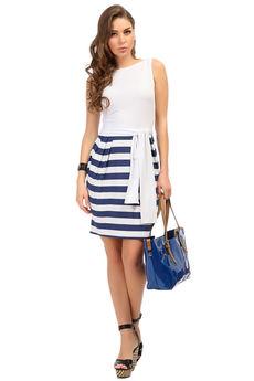 Летнее платье в морском стиле Mondigo