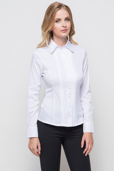 Белая блузка с длинным рукавом Marimay