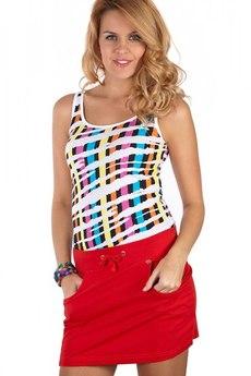 Красная спортивная юбка на лето Mondigo