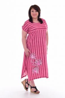 Длинное полосатое платье Новое кимоно