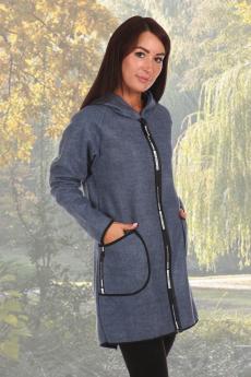 Синее пальто из эко-кашемира Натали